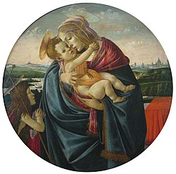Botticelli and workshop - Madonna and Child with the Young Saint John the Baptist.jpg