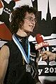 Boulder Worldcup Vienna 29-05-2010b winners3 Adam Ondra 2nd place.jpg