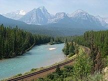 アルバータ州-地理-Bow-river-banff-np