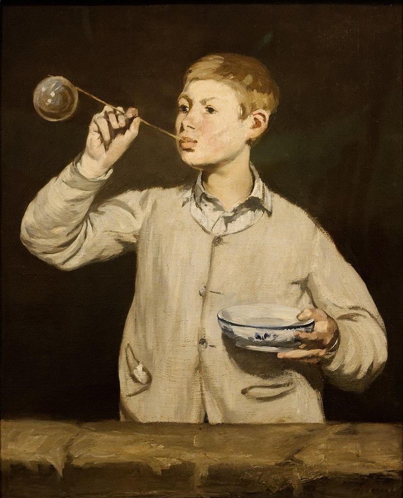 """Édouard Manet """"Garçon gonflant des bulles"""" (1867) au musée Calouste Gulbenkian à Lisbonne - Photo de Sailko"""