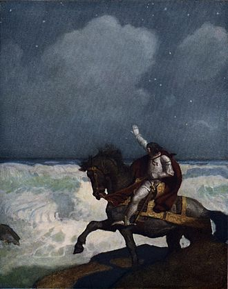 Percival - Percival in Newell Convers Wyeth's illustration for Sidney Lanier's The Boy's King Arthur (1922)