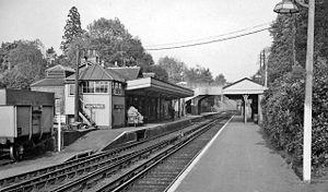 Bracknell railway station - Bracknell station in 1961