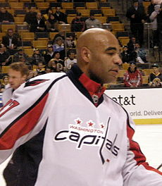 Brashear with the Washington Capitals during the 2008-09 season. 9f75526f1d6