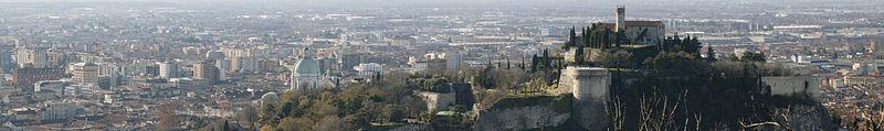Panorama di Brescia dalle colline dei Ronchi