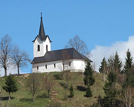 Brezovica pri Medvodah Slovenia - Church of St James.JPG