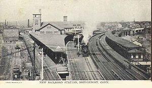 Bridgeport station (Connecticut) - Bridgeport Station in 1907