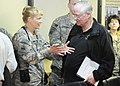 Brig. Gen. Anne McDonald talks with Anthony Cordesman (4588784056).jpg