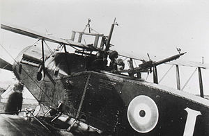 Bristol F.2 Fighter - Bristol Fighter with Foster-mounted Lewis gun