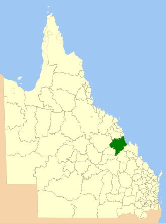 Shire of Broadsound - Location within Queensland