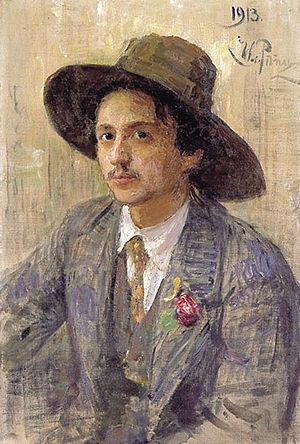 Isaak Brodsky - Portrait of Brodsky by Ilya Repin, 1913