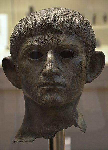 File:Bronze head of the Emperor Claudius, found at the River Alde at Rendham, near Saxmundham, Suffolk, British Museum (16250274110).jpg
