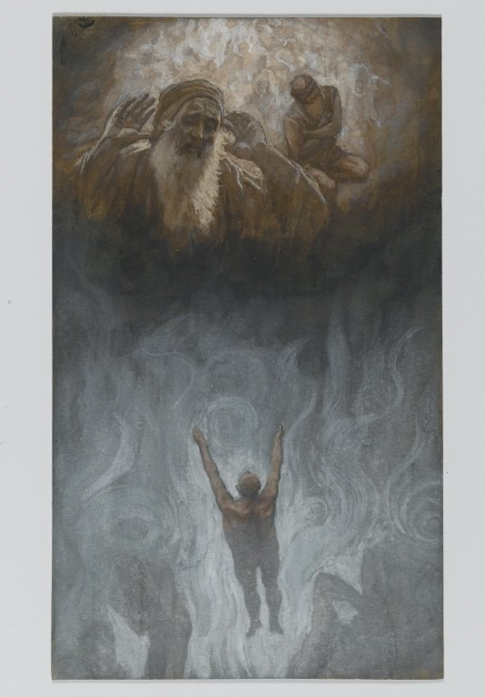Brooklyn Museum - The Bad Rich Man in Hell (Le mauvais riche dans l'Enfer) - James Tissot - overall