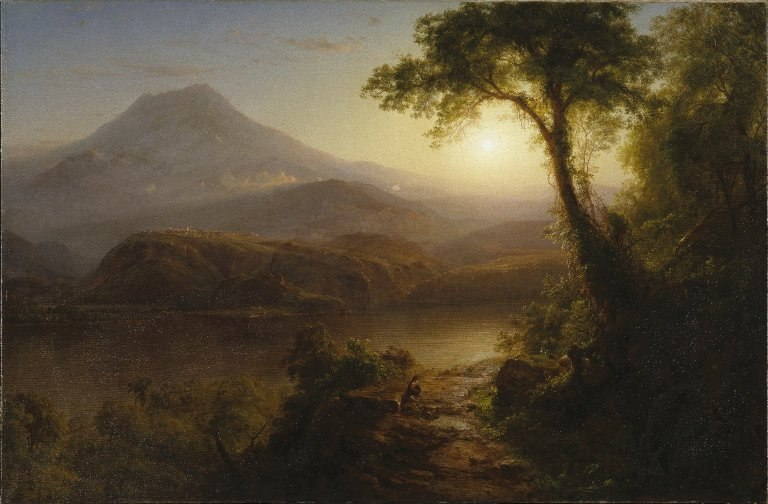 Brooklyn Museum - Tropical Scenery - Frederic Edwin Church - overall