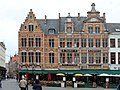 Bruges, restaurants and cafés at the northwestern corner of the town square.JPG