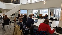 Brussels-Public domain day edit-a-thon KBR 2019 (6).jpg