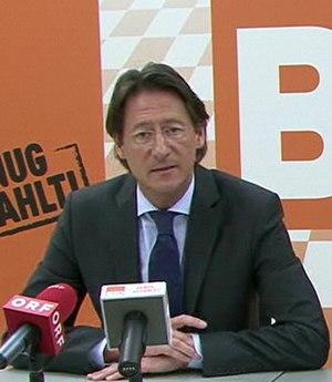 Josef Bucher - Image: Bucher press conference 22 02 11