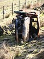 Burnt out van top of Holcombe Valley - geograph.org.uk - 394155.jpg
