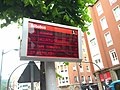 Bus arrival prediction signs are hard to photograph because of the refresh rate (18187240243).jpg