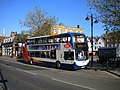 Bus on High Street, St Neots - geograph.org.uk - 3091353.jpg