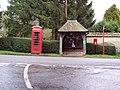 Bus shelter and telephone box at Lake - geograph.org.uk - 336924.jpg