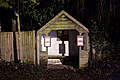 Bus stop at night in Nuthurst, West Sussex, England.jpg
