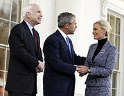 On March 5, 2008, President Bush met with the McCains, and endorsed the presumptive nominee.