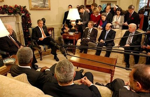 Bush Welcomes Quartet Principals to White House