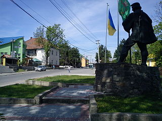 Bushtyno Urban-type settlement in Zakarpattia Oblast, Ukraine