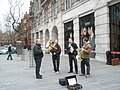 Buskers taking a break in Sloane Square - geograph.org.uk - 1089257.jpg