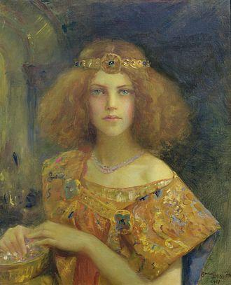 Gaston Bussière - Salammbô, painted by Gaston Bussière, 1907