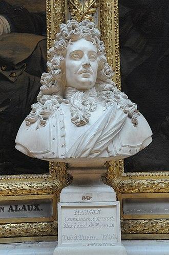 Ferdinand de Marsin - Bust of Ferdinand, comte de Marsin in the Galerie des Batailles, Palace of Versailles