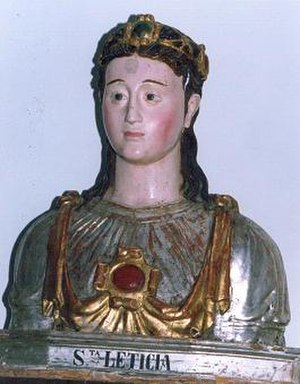 Saint Leticia - Bust of Saint Leticia, Ayerbe, Spain
