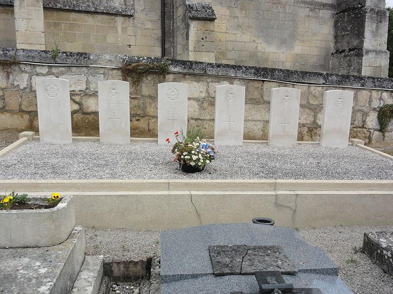 Cœuvres-et-Valsery (Aisne) tombes de guerre CWGC 1944