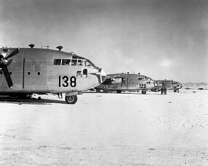 Yonpo Airfield - C-119s preparing to drop supplies to Marines in the Chosin Reservoir