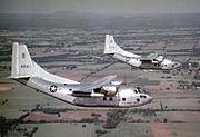 C-123B in flight over US 1950s
