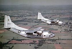 C-123B in flight over US 1950s.jpg