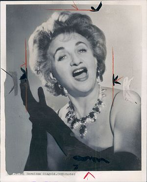 Hermione Gingold - Gingold in the 1950s