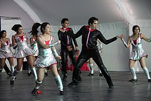 Jazz dance - Students performing jazz dance at Monterrey Institute of Technology and Higher Education, Mexico City as part of Culture Week activities
