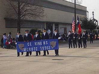 C.E. King High School - Cyril E. King JROTC at the 2013 Martin Luther King Day Parade in Midtown Houston