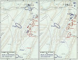 Battle of Chickamauga - Chickamauga Campaign, movements 10–12 September 1863