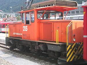 Rhaetian Railway Ge 3/3 - Ge 3/3 215 in Chur