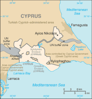area of Akrotiri and Dhekelia, a British Overseas Territory on the island of Cyprus