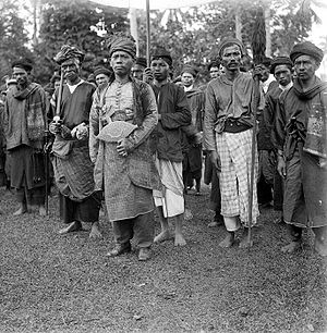 Minangkabau people - Minangkabau chiefs, picture taken between 1910 and 1930.