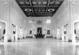 Istana Negara (Jakarta) - View of the reception hall of the palace in 1920s