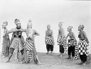 Punokawan - Panakawans (right) accompanied their masters in a traditional Wayang Wong theater performance in Yogyakarta. September 1923.