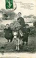 CPA Boutain femme enfant mule.jpg