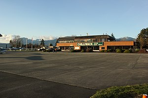 Chilliwack Airport - The terminal at Chilliwack seen from airside