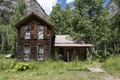 Cabin in Crystal, Colorado, a virtual ghost town in a valley on the upper Crystal River in Gunnison County, on a precipitous, a four-wheel-drive-only road between Marble and Crested Butte LCCN2015633744.tif