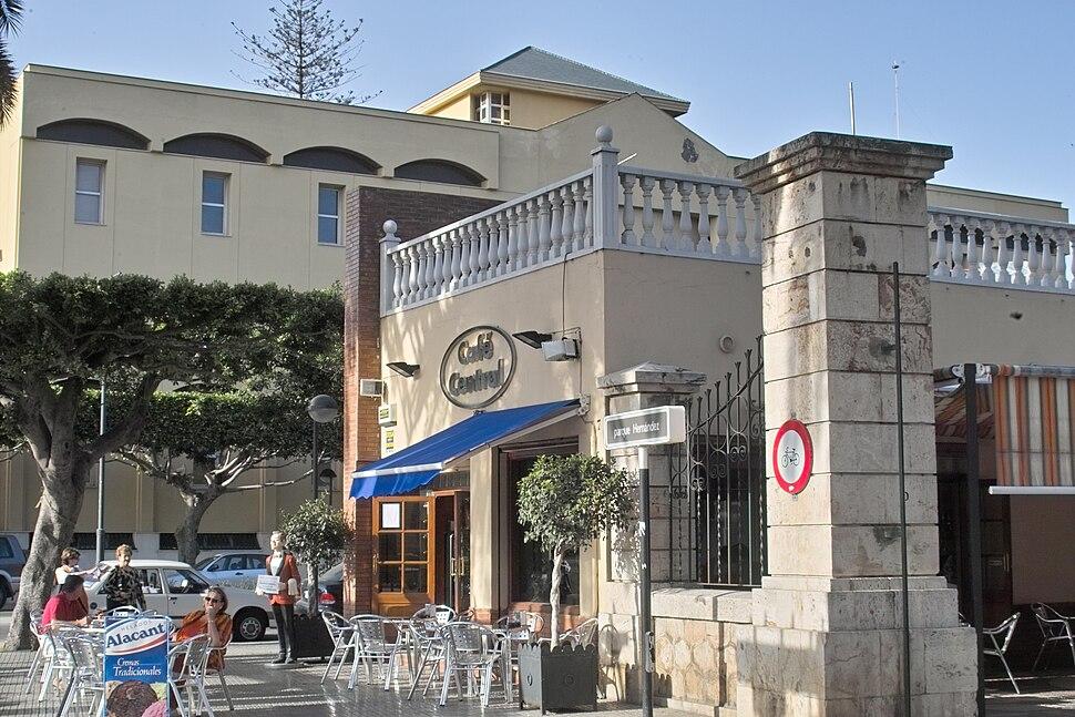 Café Central en la plaza de España de Melilla