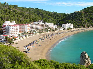 Cala de Sant Vicent Beach Resort Village in Balearic Islands, Spain